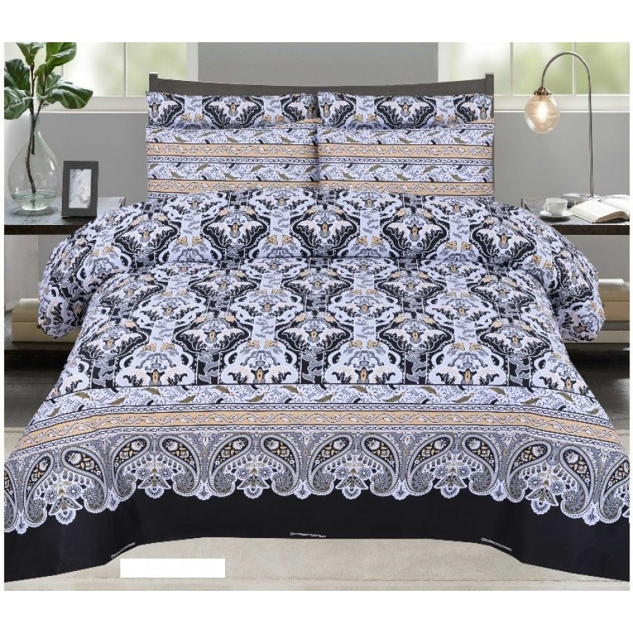 Cotton Printed Bed Sheet Sets [All Sizes] Design CC-728
