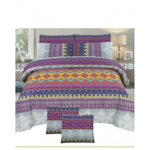 Cotton Printed Bed Sheet Sets [All Sizes] Design CC-603