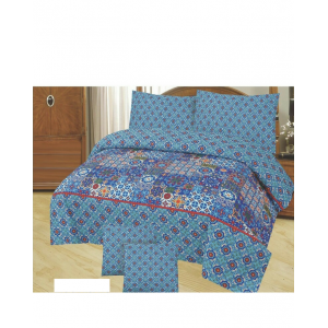 Cotton Printed Bed Sheet Sets [All Sizes] Design CC-620