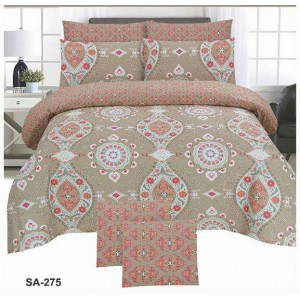Cotton Printed Bed Sheet Sets [All Sizes] Design CC-577