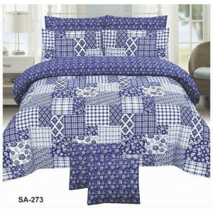 Cotton Printed Bed Sheet Sets [All Sizes] Design CC-579