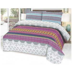Cotton Printed Bed Sheet Sets [All Sizes] Design CC-584