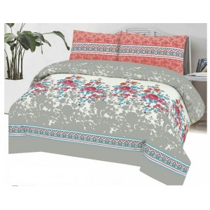 Cotton Printed Bed Sheet Sets [All Sizes] Design CC-585