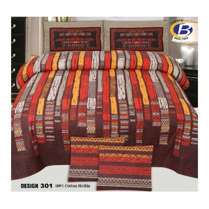 Cotton Printed Bed Sheet Sets [All Sizes] Design CC-596