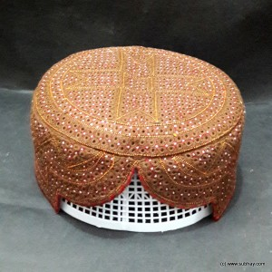 Brown Color Chakki Sindhi Cap / Topi (Hand Made) MKC-717