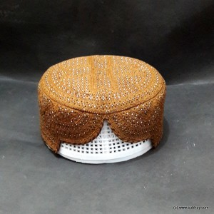 Brown Color Chakki Sindhi Cap / Topi (Hand Made) MKC-716