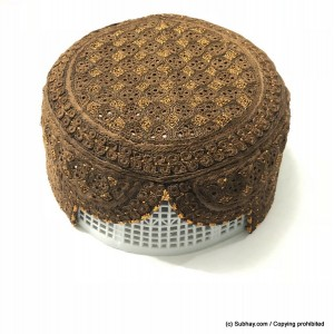 Brown Light Weight Jamali / Saeedabad Cap / Topi (Hand Made) MCK-650