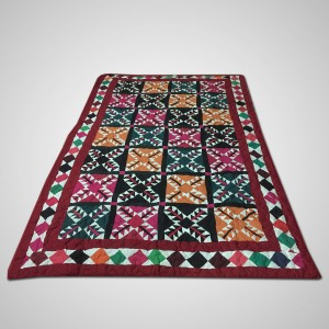 Multi Color Single Bed / Charpai Chadder Handmade Sindhi Tukri Ralli / Rally / Appliqued Bedset RBS-50