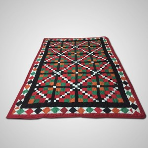 Multi Color Single Bed / Charpai Chadder Handmade Sindhi Tukri Ralli / Rally / Appliqued Bedset RBS-51