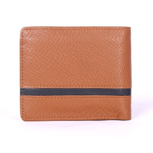 15 Pockets Genuine Cow Leather Wallet (Brown & Black)  MGW-002
