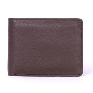 13 Pockets Genuine Cow Leather Wallet (Dark Brown)  MGW-004