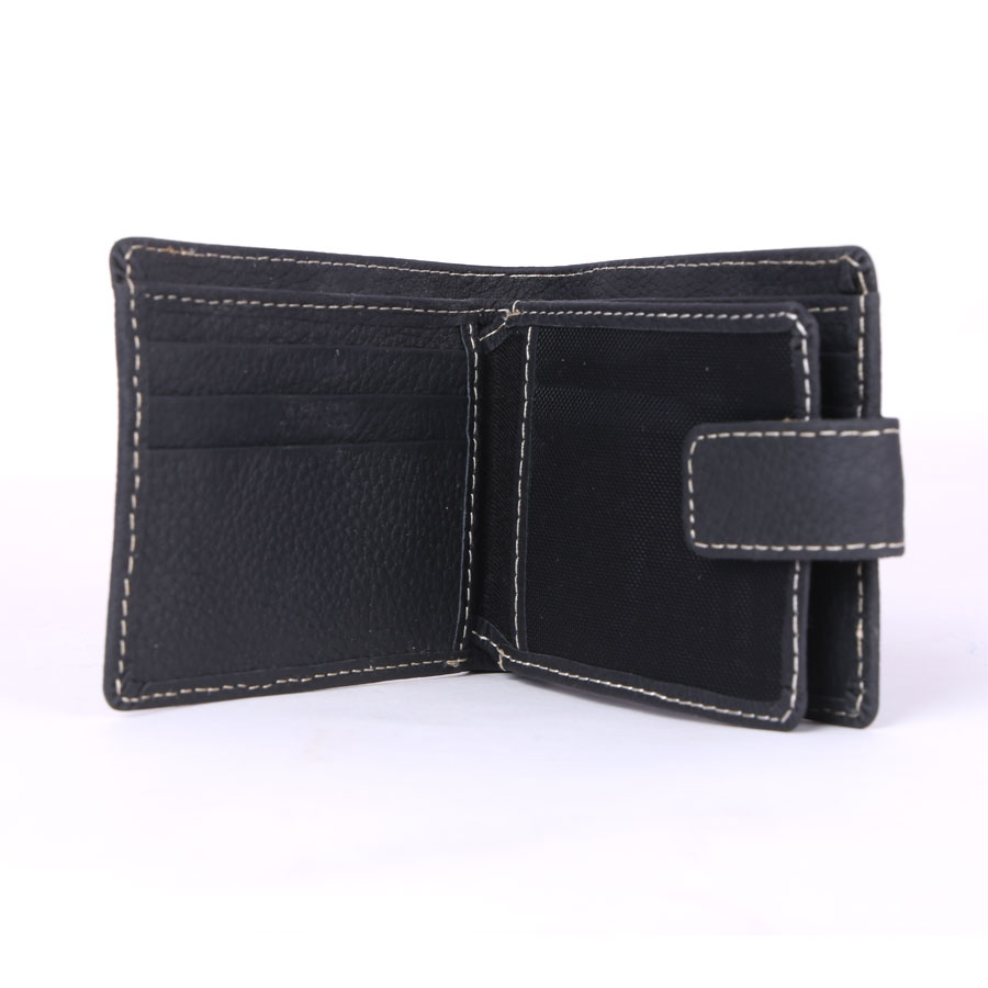 15 Pockets Genuine Cow Leather Wallet (Black)  MGW-005