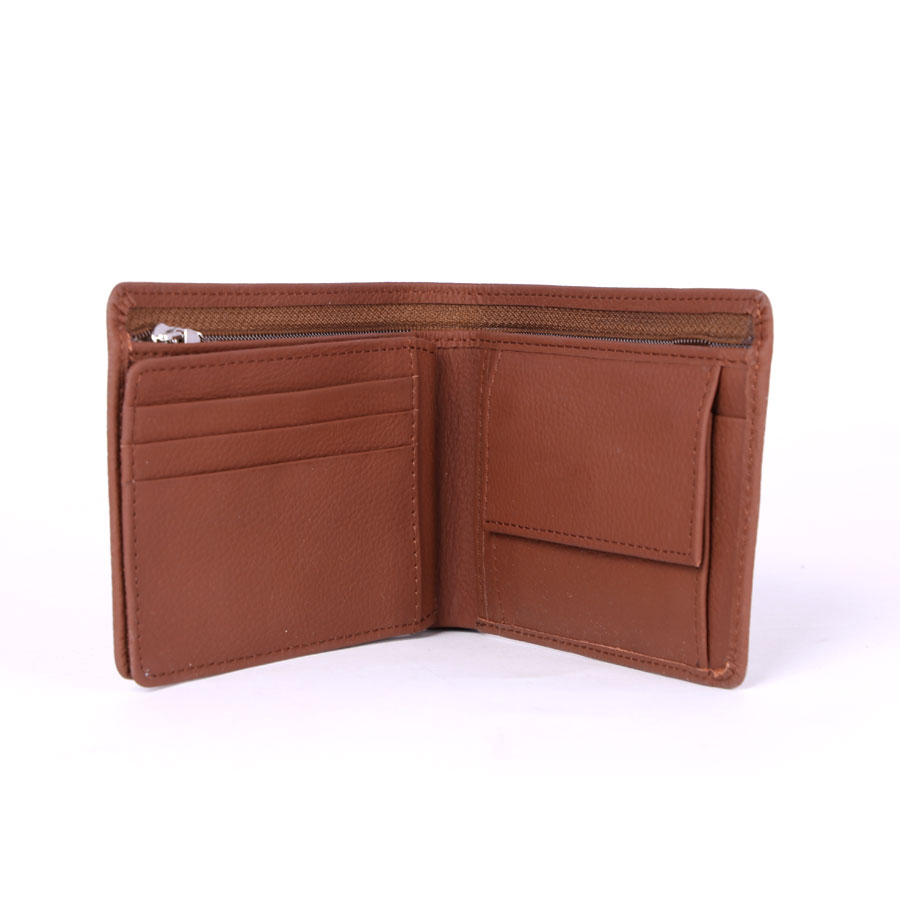 13 Pockets Genuine Cow Leather Wallet (Brown)  MGW-006