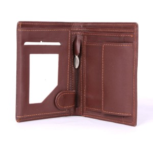 17 Pockets Genuine Cow Leather Wallet (Brown)  MGW-007