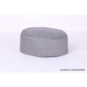 Grey Cotton Woven AKA Junaid Jamshed [Cloth Contrasting] Prayer Cap / Kufi CHM-62-2