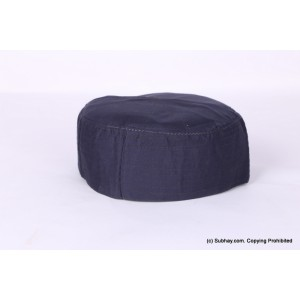 Blue Cotton Woven AKA Junaid Jamshed [Cloth Contrasting] Prayer Cap / Kufi CHM-69