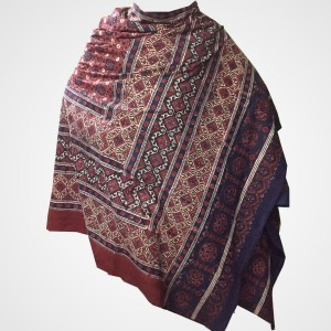 Pure Cotton Herbal Dyed Block Printed Sindhi Ajrak (Original) SA-30