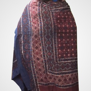 Pure Cotton Herbal Dyed Block Printed Sindhi Ajrak (Original) SA-31