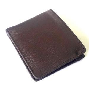 Basic Genuine Cow Leather Wallet For Him CLW#40 Color: Brown