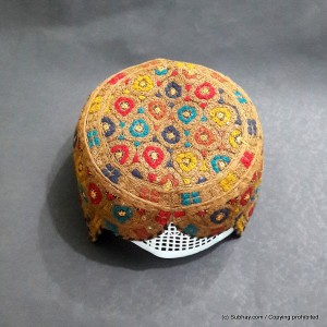 Brown & Multi Color Saeedabad Yaqoobi Zardari Cap or Topi MKC-630