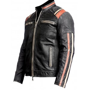Retro Racer Top Gun Real Leather Jacket 1 Vs CP-016