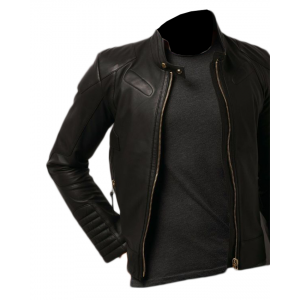 Old School Stylish Black Leather Jacket 13 Ot CP-021