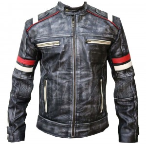 Retro Racer Classic Real Leather Jacket 2 Vs CP-017