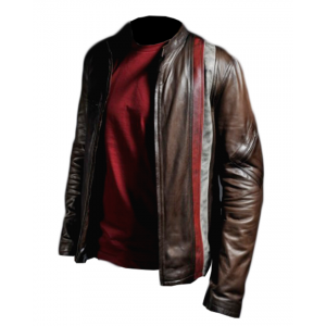Retro Racer Brown Leather Jacket 3 Vs CP-018