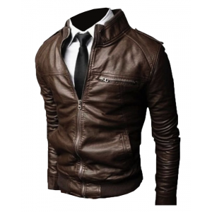 Alpha Male Slimfit Brown Jacket Leather 33 Ot CP-029