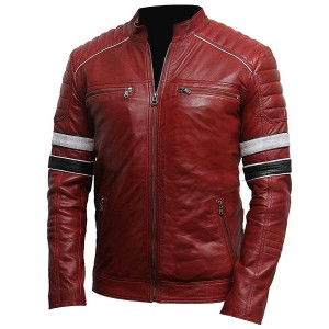 Retro Racer Moto Leather Jacket 6 Hs CP-014