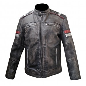 Café Racer Retro Vintage Motorcycle Distressed Leather Jacket CP-008