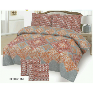 Cotton Printed Bed Sheet Sets [All Sizes] Design CC-556