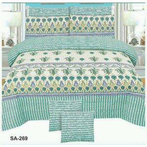 Cotton Printed Bed Sheet Sets [All Sizes] Design CC-564