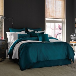 Pure Stripe Cotton Sateen Hotel Teal Solid Color BedSets [All Sizes] CSB-130