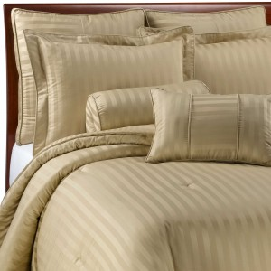 Pure Stripe Cotton Sateen Hotel Wheat Solid Color BedSets [All Sizes] CSB-131