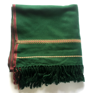 Green Pure Acro-Woolen Dhussa Shawl For Man SHL-030-2