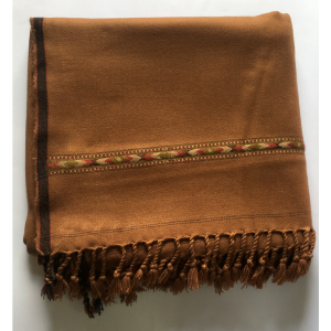 Brown Pure Acro-Woolen Dhussa Shawl For Man SHL-030-3