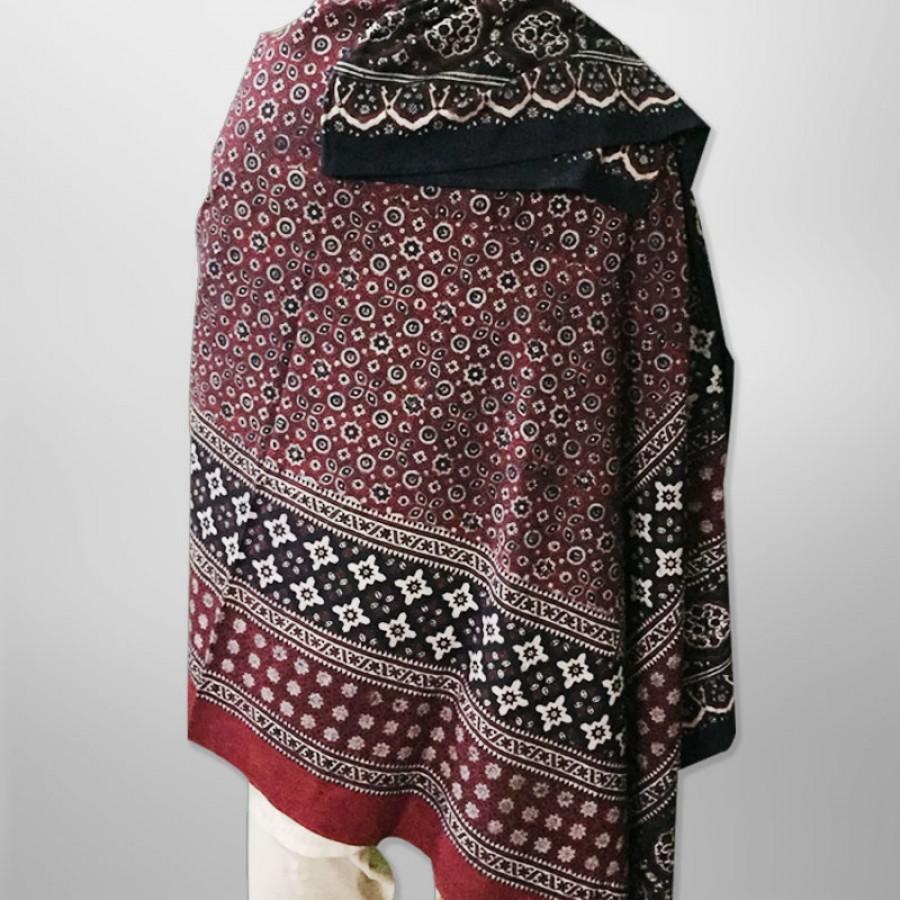 Pure Cotton Herbal Dyed Block Printed Sindhi Ajrak (Original) SA-28-4