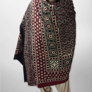 Pure Cotton Herbal Dyed Block Printed Sindhi Ajrak (Original) SA-28-5