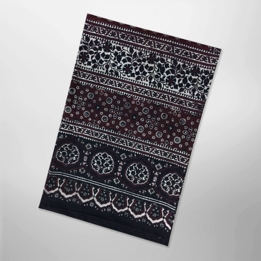 Pure Cotton Herbal Dyed Block Printed Sindhi Ajrak (Original) SA-28-3
