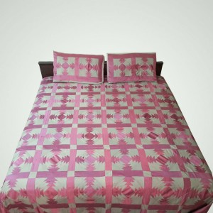 Pure Cotton Sateen Multi Color Handmade Sindhi Tukri Ralli / Rally / Appliqued Bedset RBS-42
