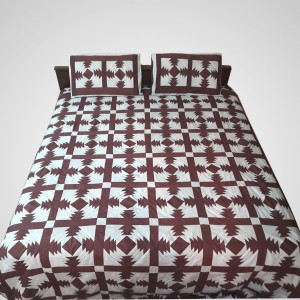 Pure Cotton Multi Color Handmade Sindhi Tukri Ralli / Rally / Appliqued Bedset RBS-47
