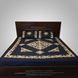 Navy Blue Handmade Sindhi Ralli / Rally / Bedsheet HM-11-03