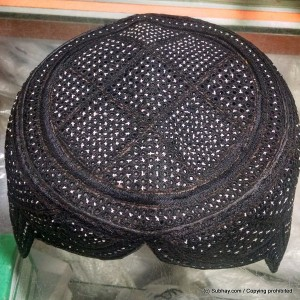 Black Color Rumaali Sindhi Cap / Topi (Hand Made) MK-295