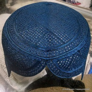 Blue Color Rumaali Sindhi Cap / Topi (Hand Made) MK-297