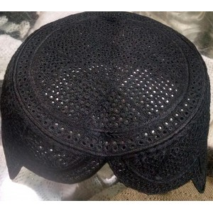 Black Color Rumaali Sindhi Cap / Topi (Hand Made) MK-294