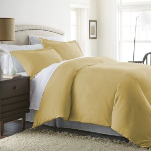 Gold & White Pure Cotton Sateen Contrasting Bedding Set [All Sizes] CSB-116