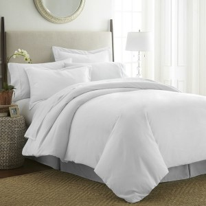 White Pure Cotton Sateen Contrasting Bedding Set [All Sizes] CSB-115