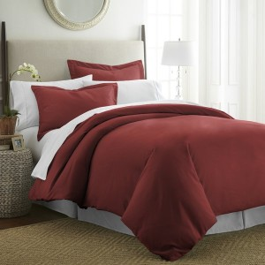 Red & White Pure Cotton Sateen Contrasting Bedding Set [All Sizes] CSB-114