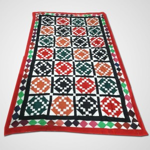 Multi Color Single Bed / Charpai Chadder Handmade Sindhi Tukri Ralli / Rally / Appliqued Bedset RBS-38